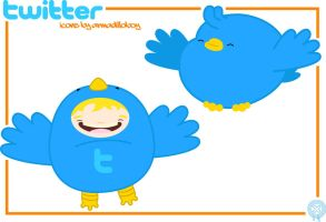 chubby twitter.... by armadilloboy