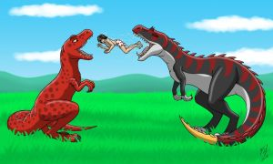 Dinosaurs And Their Human 2 by Goldy--Gry