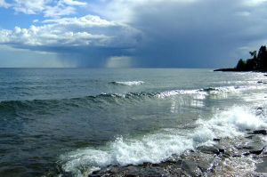 Lake Superior Storm by WestSideofMidnight