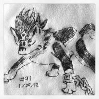 Napkin Art #91 - Wolf Link - Twilight Princess by PeterParkerPA
