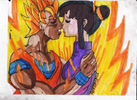 Goku and chi-chi by ChahlesXavier
