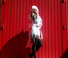 Inori Red and White - Guilty Crown Cosplay by NidameSofia