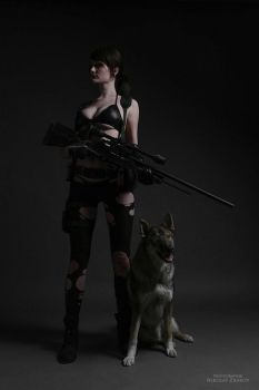 Metal Gear SolidV: The Phantom Pain - Quiet and DD by tniwe