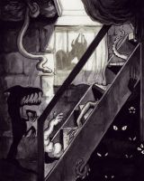 The Cellar Stairs by RayGunNoey