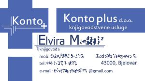 Konto plus business card design by webbugt
