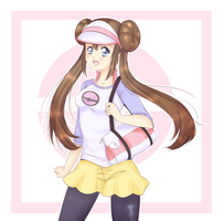 Pokemon trainer Mei. by Amai-Kawaii