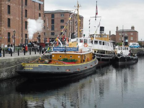 Boats and Trains at Liverpool Albert Dock... by DaveOnTheRails