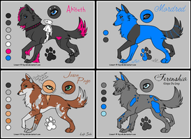 Multi Wolf Ref 3 by bluesunsetfox