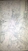 sonic the hedgehog 257 cover penciled by trunks24
