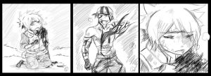 Kakashi and Anko comic scrap: Kakashi Death2 by KickBass77