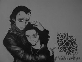 ville valo and bam margera by mysweetVI66