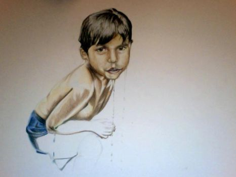 sri lankan child WIP 1 by voodugirl