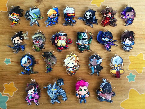 More Overwatch Charms! by Jubblier