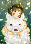 I will carry you [Princess Mononoke: San and Moro] by rainbownote