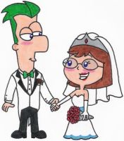 Ferb and Gretchen Get Married by nintendomaximus