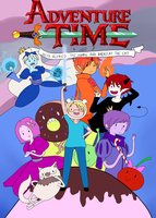Adventure Time with Alfred And Americat. Cover by Jokuza