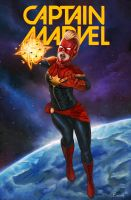 Captain Marvel Carol Danvers by RoyalFiend