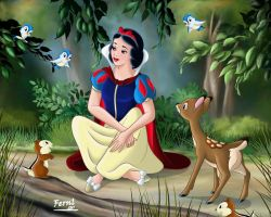 SNOW WHITE AND FRIENDS by FERNL