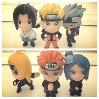 My Chibi Naruto Figures by pabism