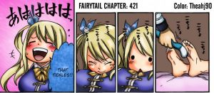 Fairytail 421- Shocked Lucy Gets Her Feet Tickled by Theahj90