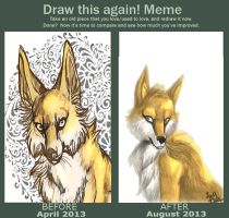 Draw this again - Fox by IzaPug