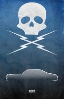 Movie Car Racing Posters - Death Proof Nova by Boomerjinks