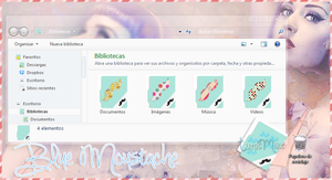 Tema IconPackager l BlueMoustache // by TutosMiike