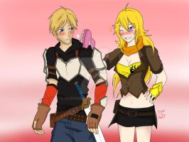 Jaune got surprised by yang by nuricombat