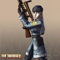 Fem Fortress 2 Sniper by HertzaHaeon