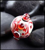 Savasana - Glass Lampwork Bead by andromeda