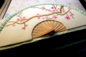 japanese fan cake by pinkshoegirl
