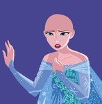 Dramatic Elsa base: no hair by Raygirlbases