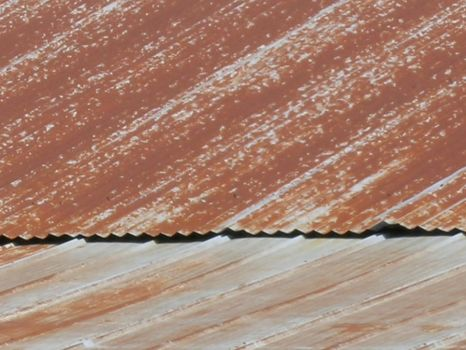 Rusted Barn Roof by bloodlust-stock