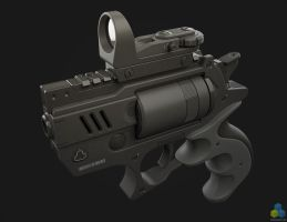 SciFi Snubnose Revolver - Shot5 by pixelquarry