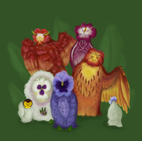AS 2013 - Pansy Owls by Feather-Dancer
