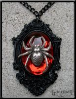 Black Widow Necklace by Horribell-Originals