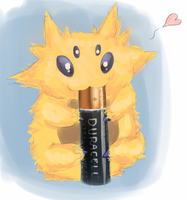 Joltik enjoying his breakfast.targa by Joltik92