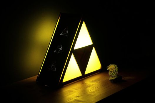 The Legend Of Zelda Triforce Lamp by EricMargera