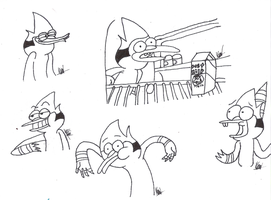 Mordecai sketches by karlix-the-wiz