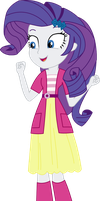 Equestria Girls Rarity (Sweetie Belle's clothes) by SketchMCreations