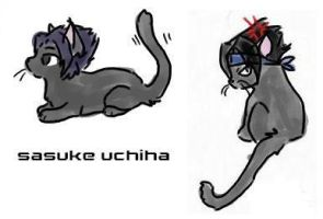 Sasuke Kitties by Sakura by naruto-animals