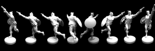 Captain America 1:6 Garage Kit Turnaround by chiseltown