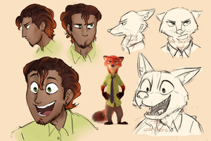 human!Nick Wilde - zootopia humanization by color-theorist