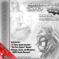 Sketching Set 2012 .:PS Brushes:. by FreakyEd