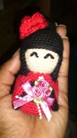 amigurumi - Mini Kokeshi Doll by passionfyre