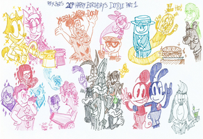 My 20th Birthday's Doodle Part 1 by FelixToonimeFanX360