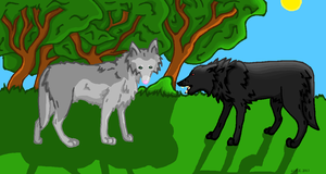 Fenrir and Midnight by PearlEvil