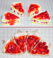 clay strawberry cake by cihutka123
