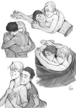 Hugs are important - Victuuri by Lapis-Razuri