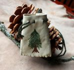 Painted Tree Pouch by lupagreenwolf